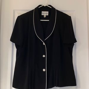 Danny and Nicole Black Ladies Business Top
